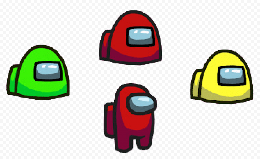 Red Astronauts from Among As