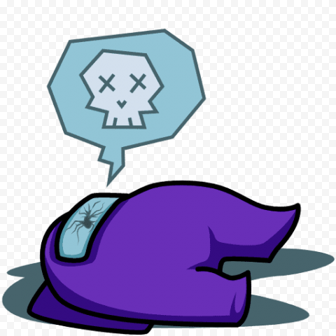 Purple man lying on the floor