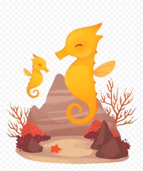 Download Cute Seahorse PNG Transparent