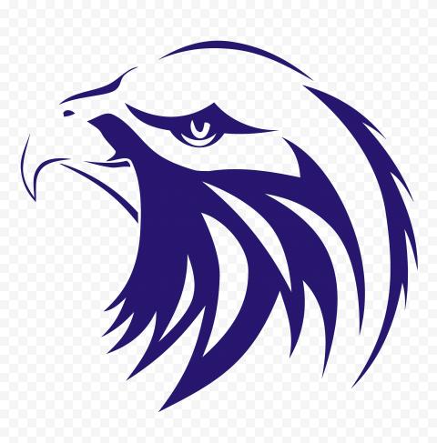 blue eagle head illustration, Indonesia Bald Eagle Bird Elang, eagle, purple, animals, logo