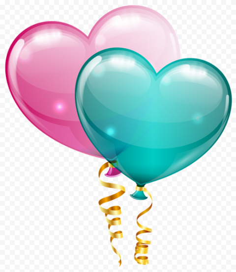 Heart Balloon PNG Transparent Image