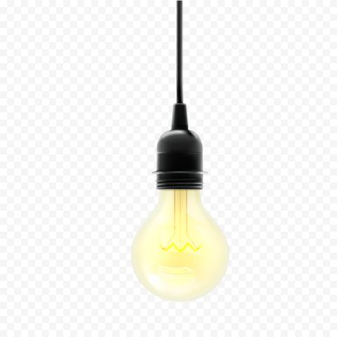 Incandescent light bulb Lamp Yellow, light bulb, yellow light bulb turned on, light Fixture, lantern, lights png