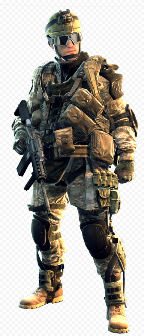 Man wearing camouflage suit holding rifle illustration, Soldier, Soldier, game, people, video Game png