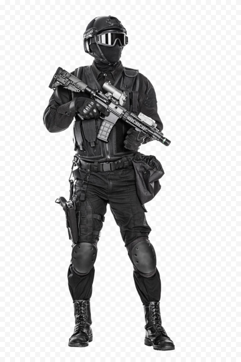 Airsoft SWAT Soldier graphy Police officer, Soldiers, people, monochrome, army png
